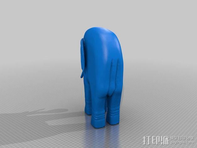 大象 雕塑 3D模型  图3