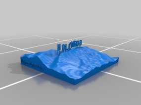 好莱坞山丘地形图  3D模型
