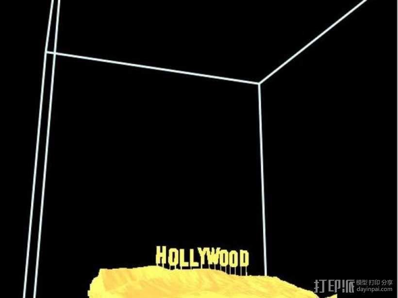 好莱坞山丘地形图  3D模型  图2
