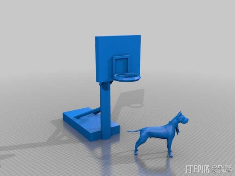 大丹犬 篮球架 标志 3D模型  图1