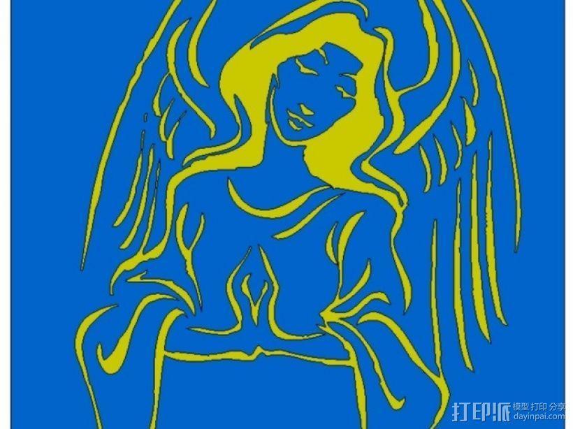 天使 装饰品 3D模型  图1