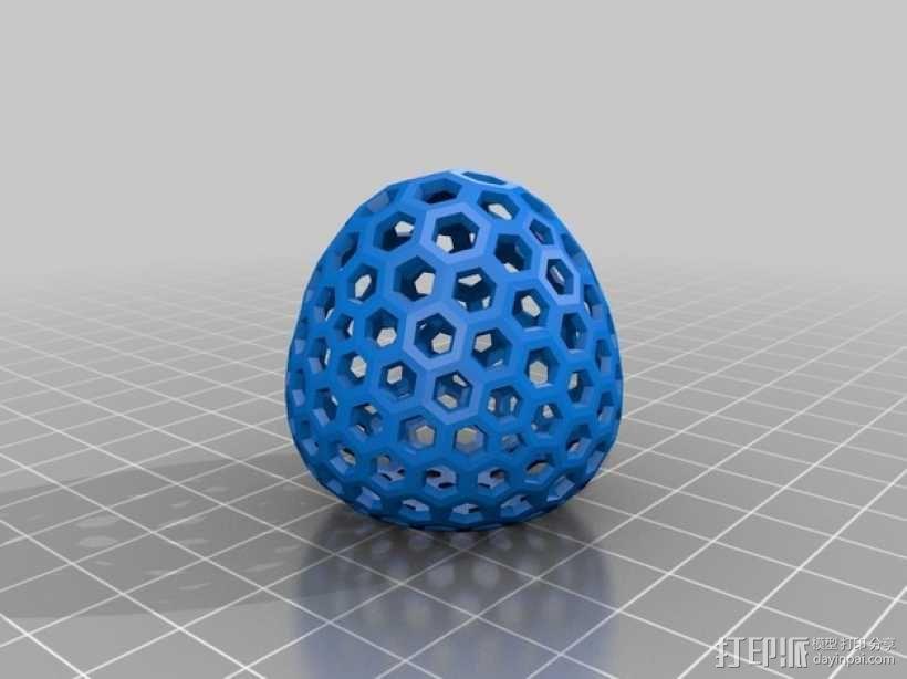 类球形 镂空多面体 3D模型  图1