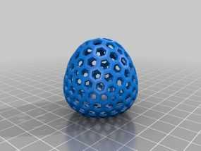 类球形 镂空多面体 3D模型