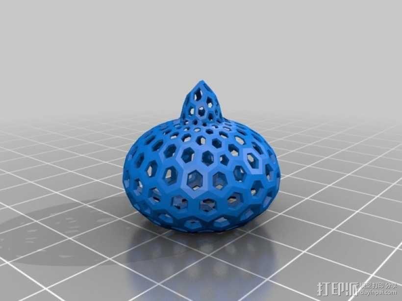 类球形 镂空多面体 3D模型  图2
