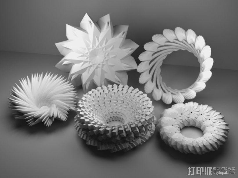 几何学 装饰品 3D模型  图1