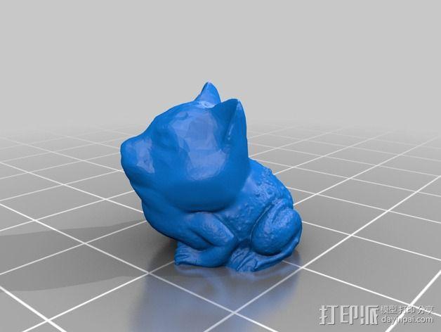 蟾蜍 猫 3D模型  图4