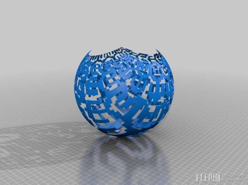 我特制的低分辨率立体投影 3D模型  图1