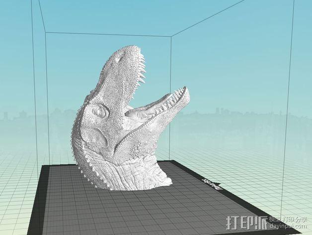 霸王龙半身像 3D模型  图2
