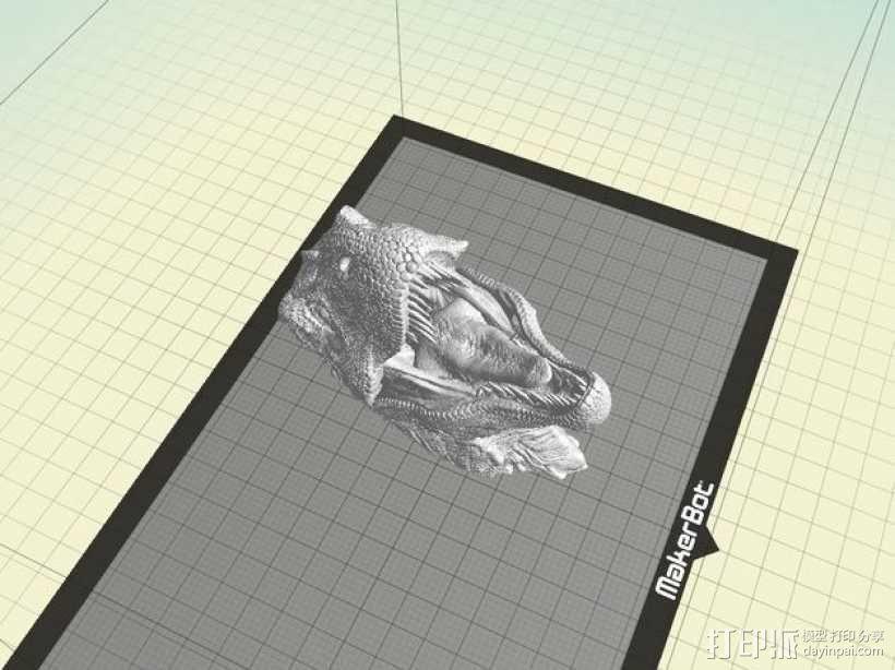 霸王龙半身像 3D模型  图1
