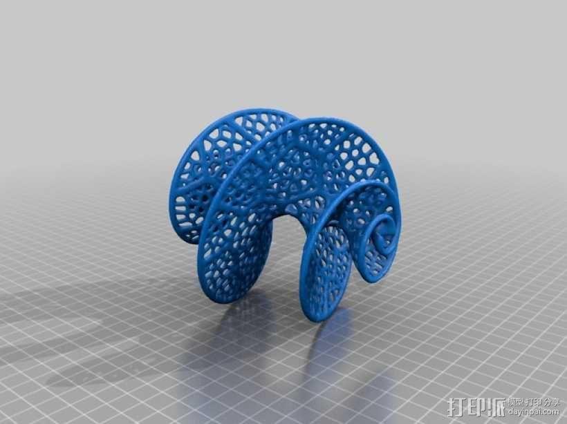螺旋体 3D模型  图3