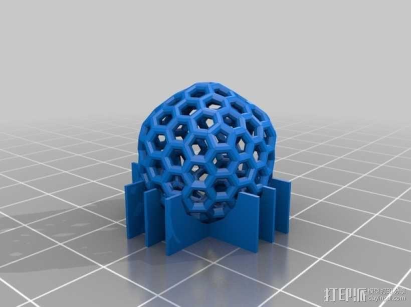 碳240原子球型耳环 3D模型  图2