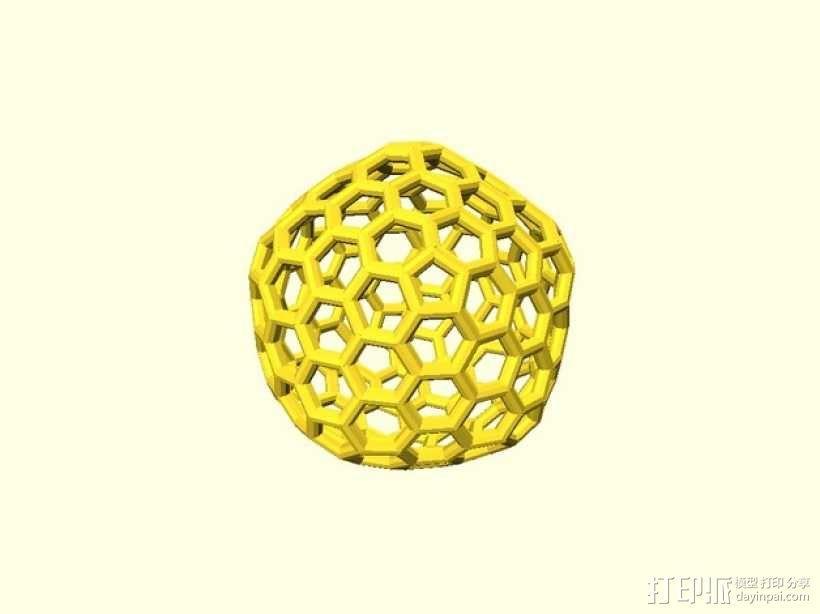 碳240原子球型耳环 3D模型  图4