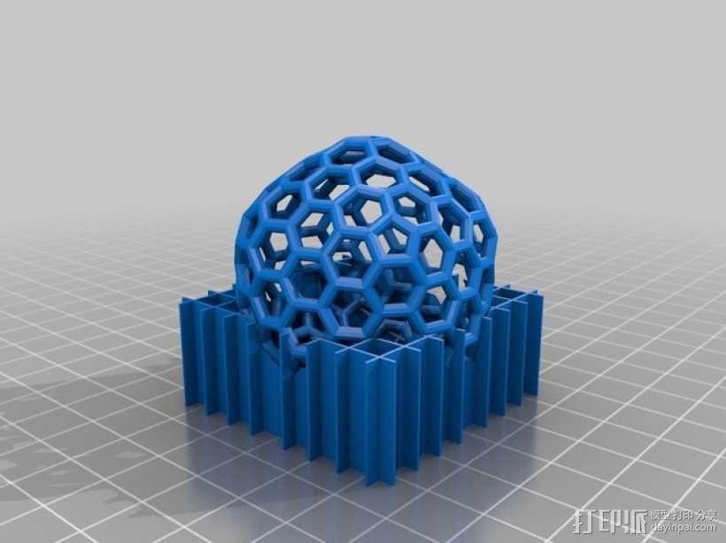 碳240原子球型耳环 3D模型  图5