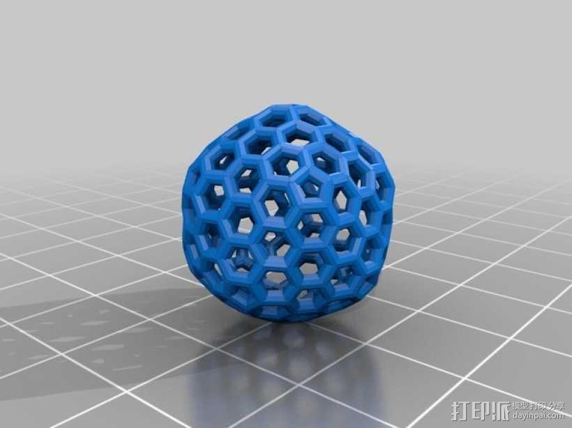 碳240原子球型耳环 3D模型  图7