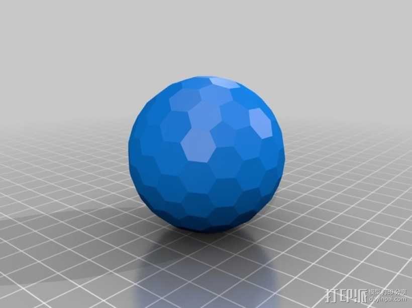 碳240原子球型耳环 3D模型  图6