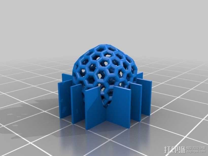碳240原子球型耳环 3D模型  图8