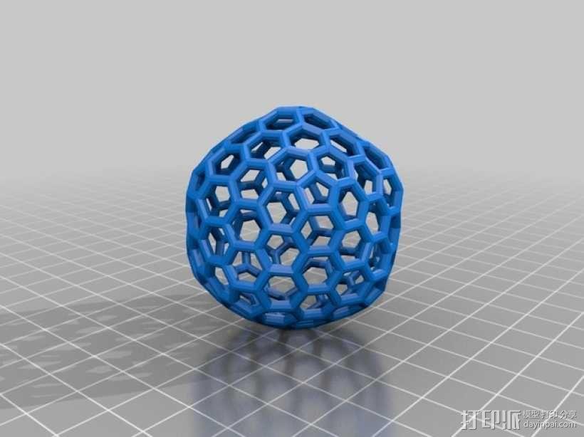 碳240原子球型耳环 3D模型  图10