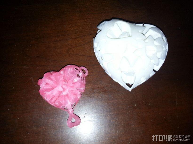 迷你心形齿轮 3D模型  图1