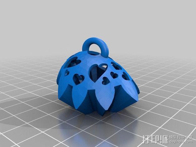 迷你心形齿轮 3D模型  图2