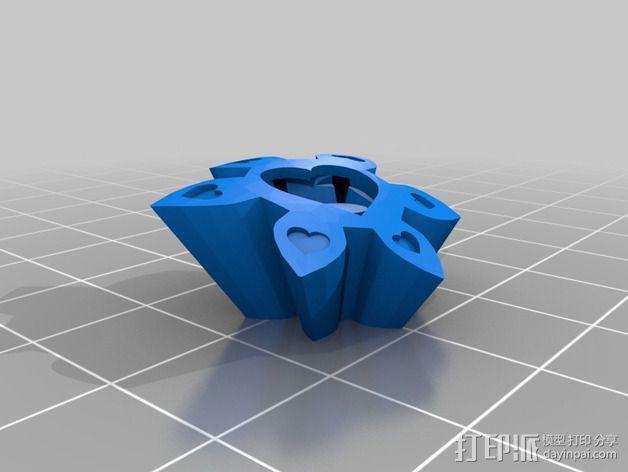 迷你心形齿轮 3D模型  图6
