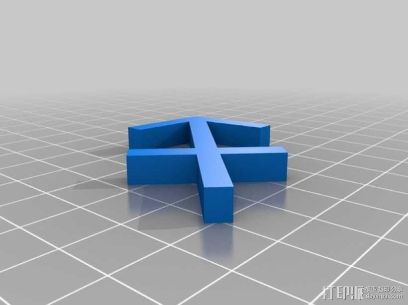 射手座标识 3D模型  图1