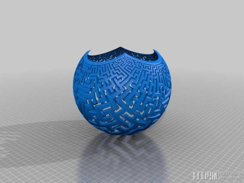 球极平面投影  3D模型  图2