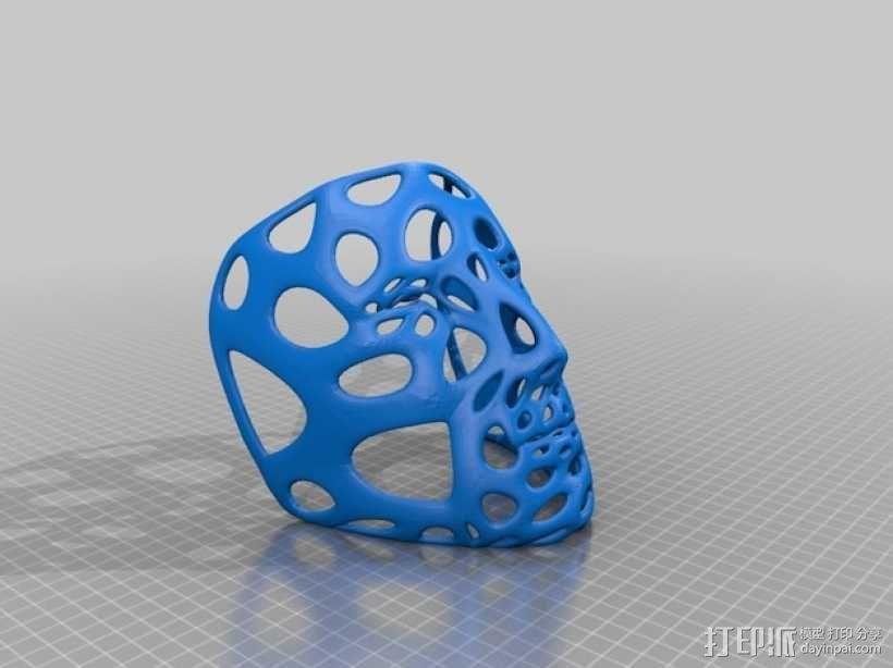 镂空面具 3D模型  图2