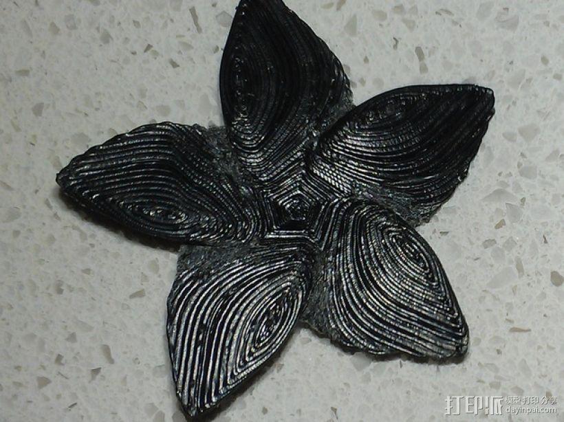赤素馨 花朵 3D模型  图1