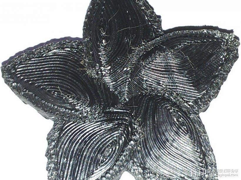 赤素馨 花朵 3D模型  图3