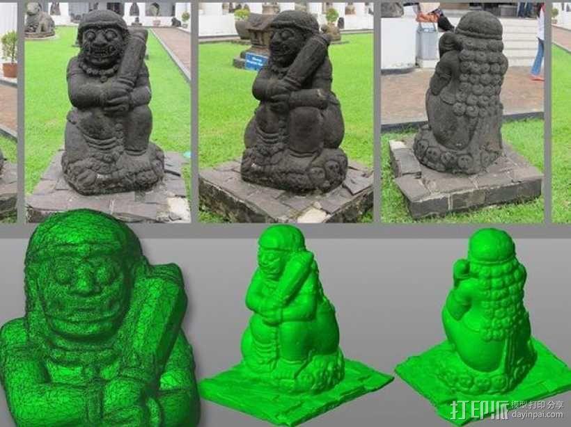 印度尼西亚守门天 3D模型  图1