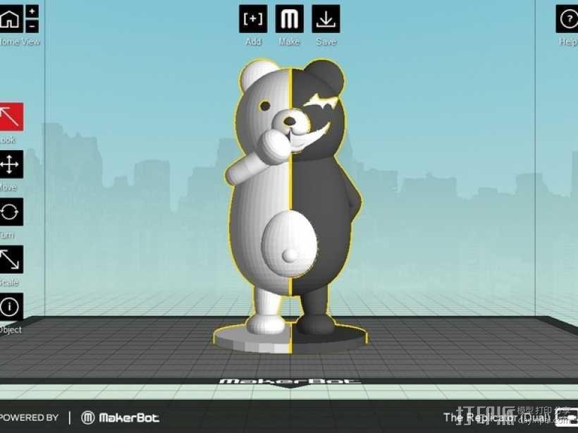 黑白熊 3D模型  图2