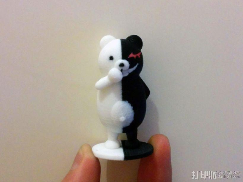 黑白熊 3D模型  图1