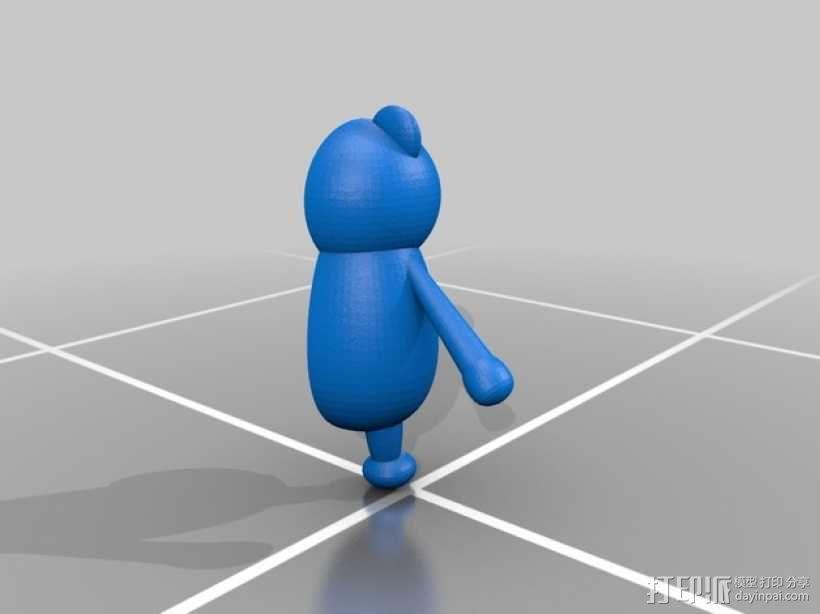 黑白熊 3D模型  图3