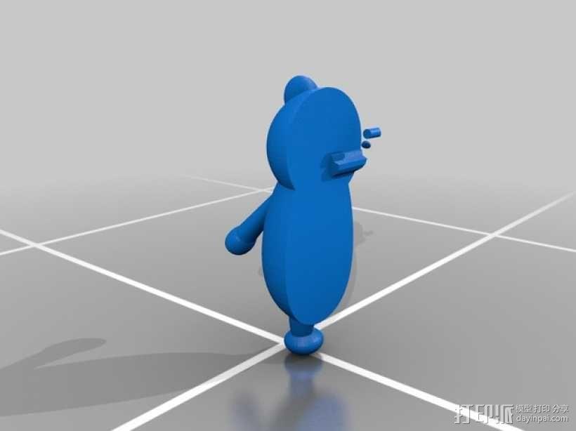 黑白熊 3D模型  图4