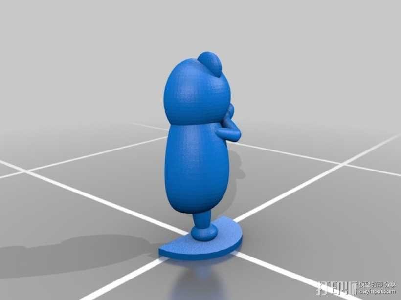 黑白熊 3D模型  图6
