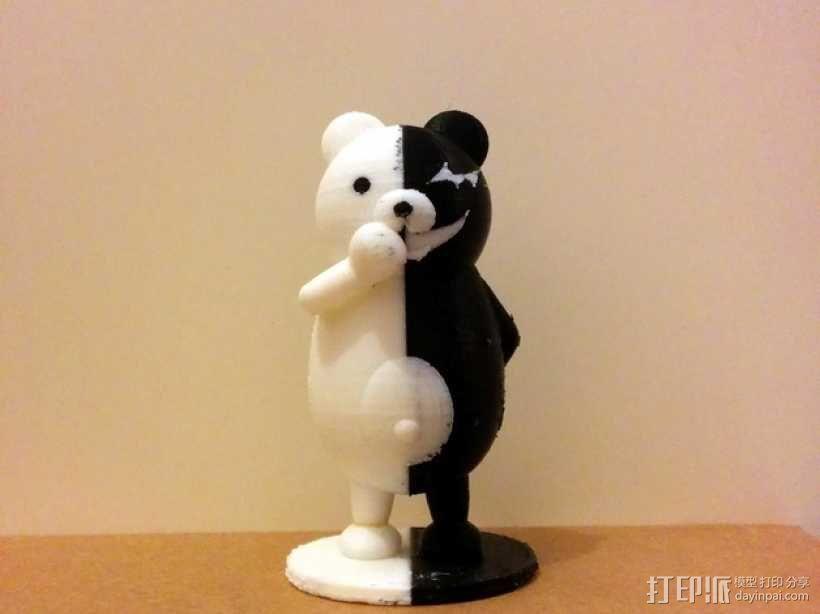 黑白熊 3D模型  图8