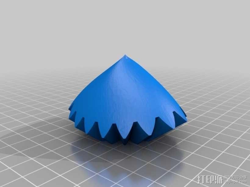 emmett's心形齿轮 3D模型  图1