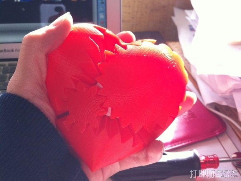 emmett's心形齿轮 3D模型  图2