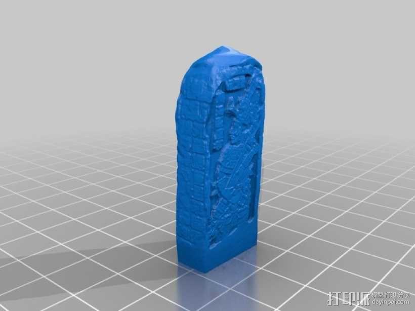 芝加哥艺术博物馆中的古典期玛雅石碑 3D模型  图1