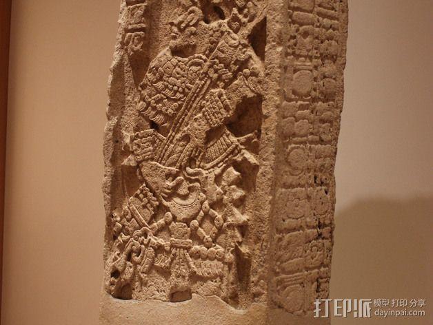 芝加哥艺术博物馆中的古典期玛雅石碑 3D模型  图3