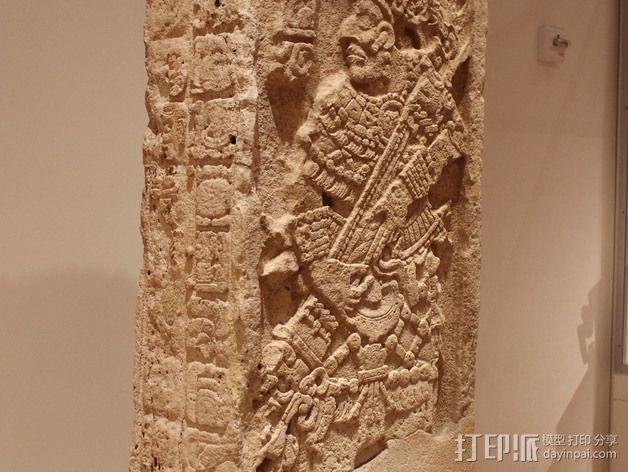 芝加哥艺术博物馆中的古典期玛雅石碑 3D模型  图2