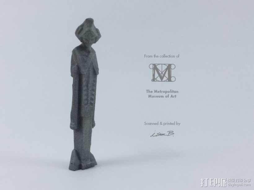 建筑大师赖特 塑像 3D模型  图1