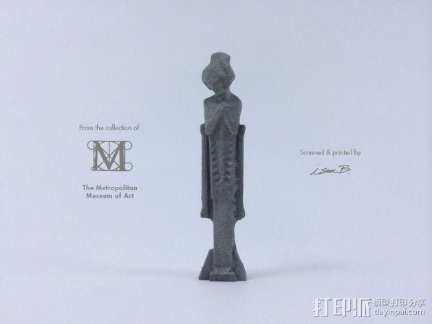 建筑大师赖特 塑像 3D模型  图3
