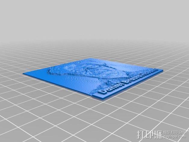 人像 透光浮雕  3D模型  图2