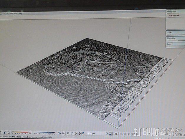人像 透光浮雕  3D模型  图4