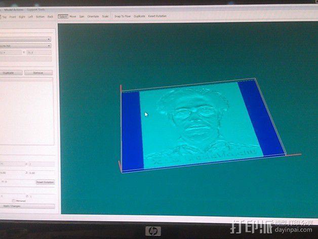 人像 透光浮雕  3D模型  图6