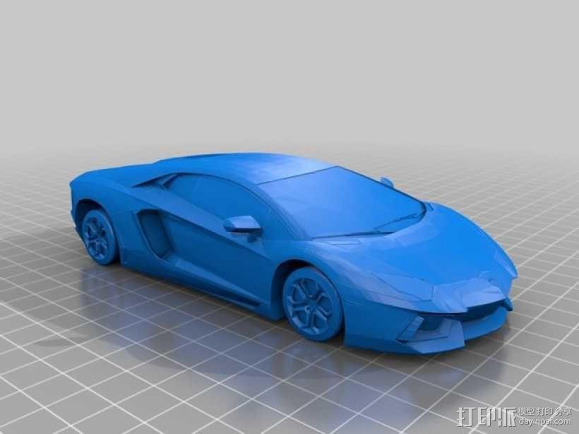 兰博基尼 3D模型  图1