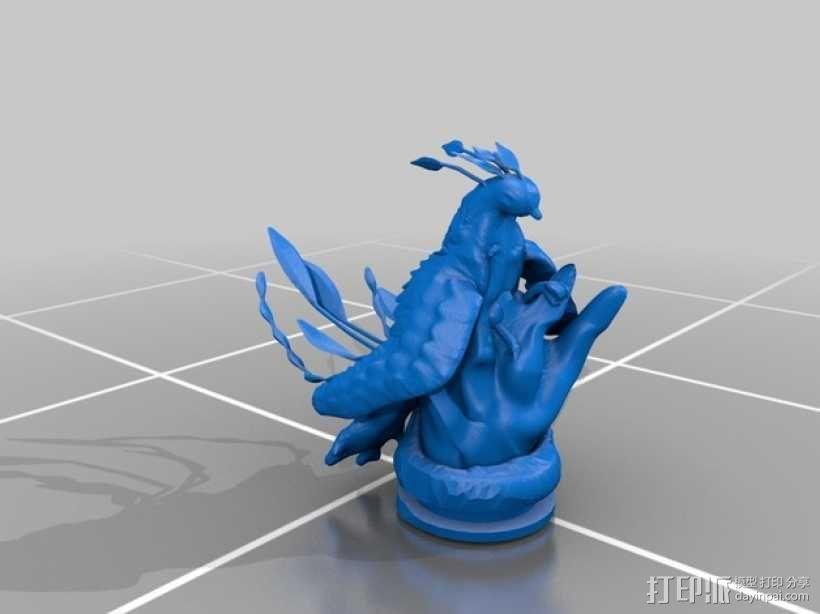 起飞的凤凰 3D模型  图1