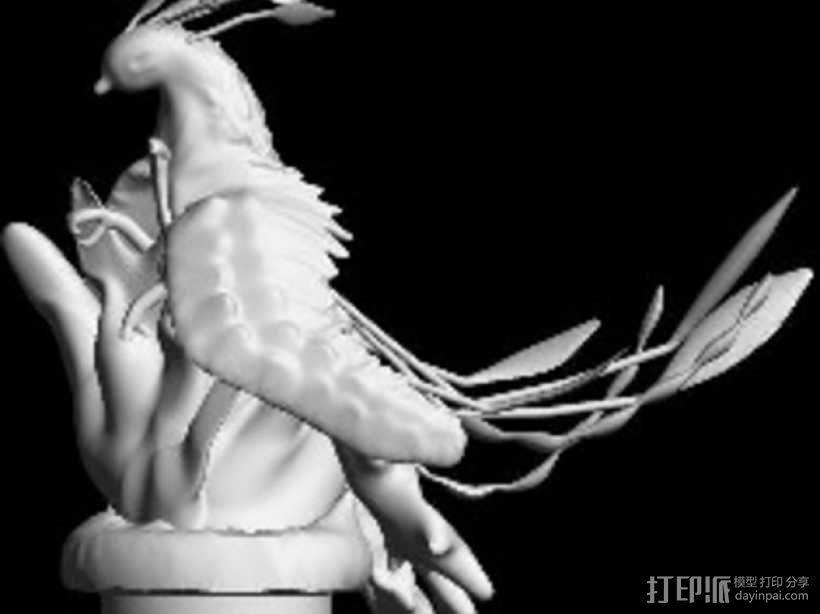 起飞的凤凰 3D模型  图4