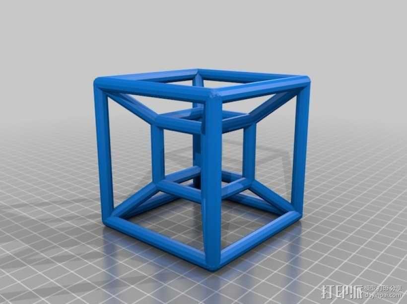 超立方体 3D模型  图1